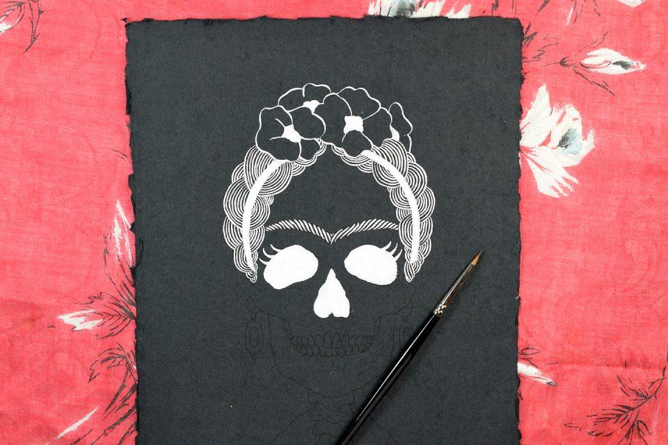 Frida Kahlo Halloween Art - Includes Printable | The Postman's Knock
