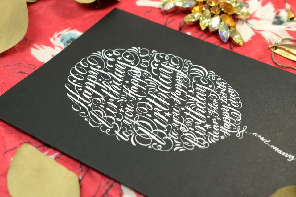 Calligraphy Birthday Card Tutorial | The Postman's Knock