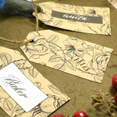 Easy Vintage Gift Tag Tutorial
