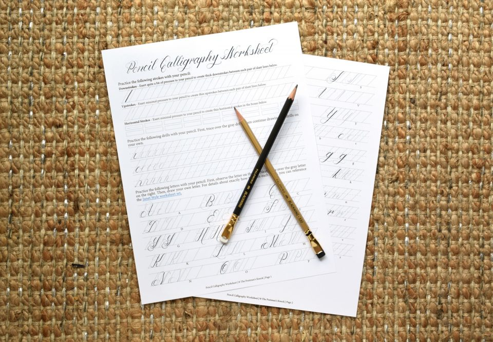 Beginners guide to pencil calligraphy the postmans