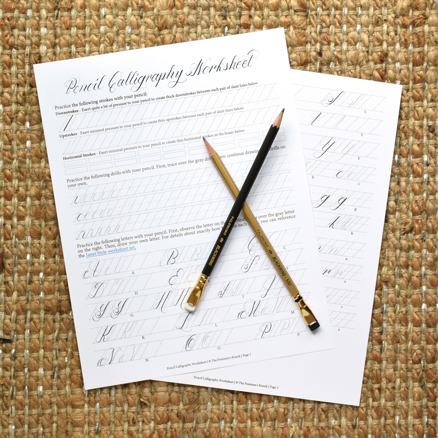 photograph relating to Calligraphy Printable named Printable Pencil Calligraphy Worksheet