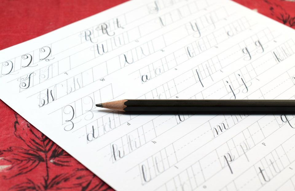The Beginner's Guide to Pencil Calligraphy | The Postman's Knock