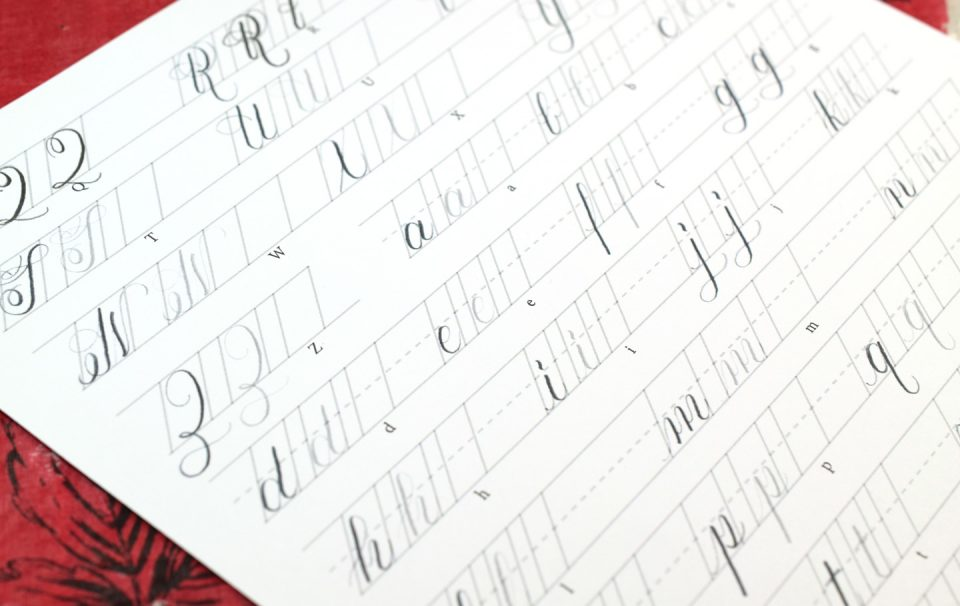 The Beginner's Guide to Pencil Calligraphy - The Postman's ...