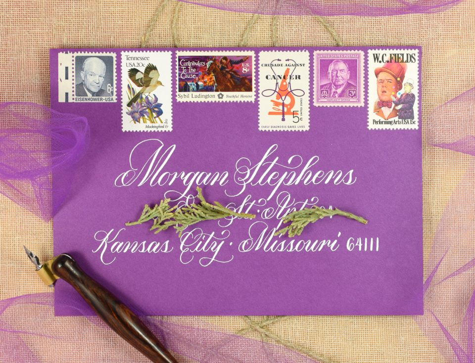 Janet Style Calligraphy Envelope | The Postman's Knock