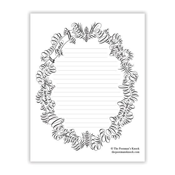Flourished Printable Goal Sheet