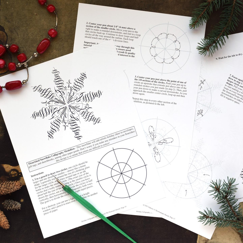 Edition Holiday Calligraphy Printable Exemplar Worksheet