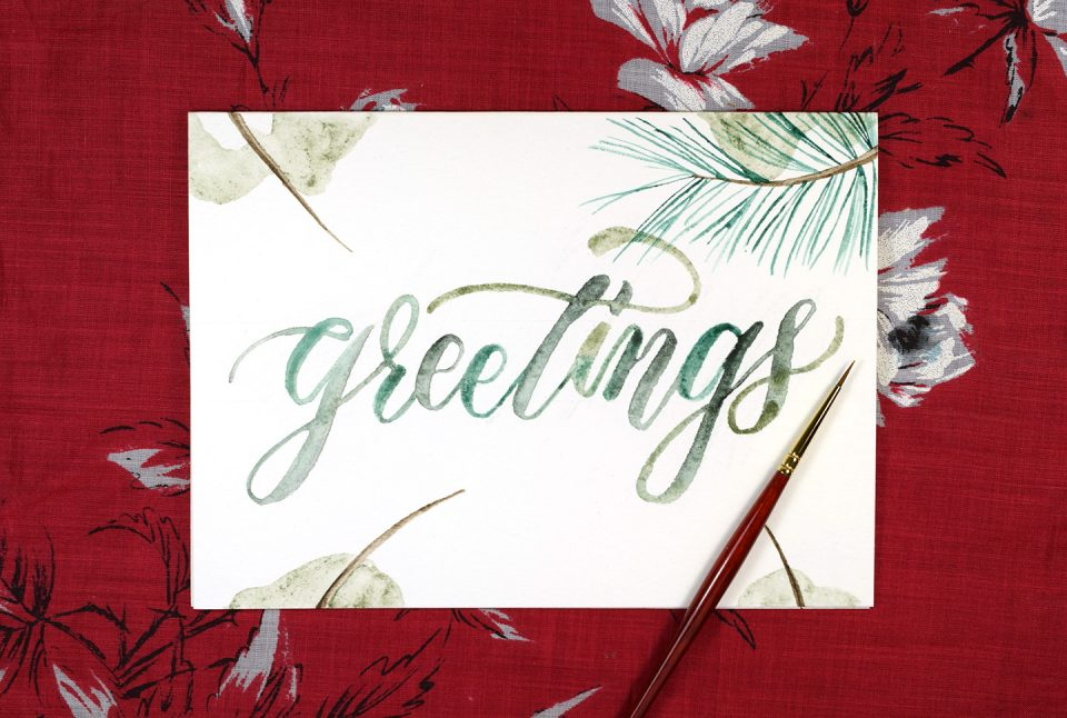 Embellished Winter Greeting Card Tutorial | The Postman's Knock