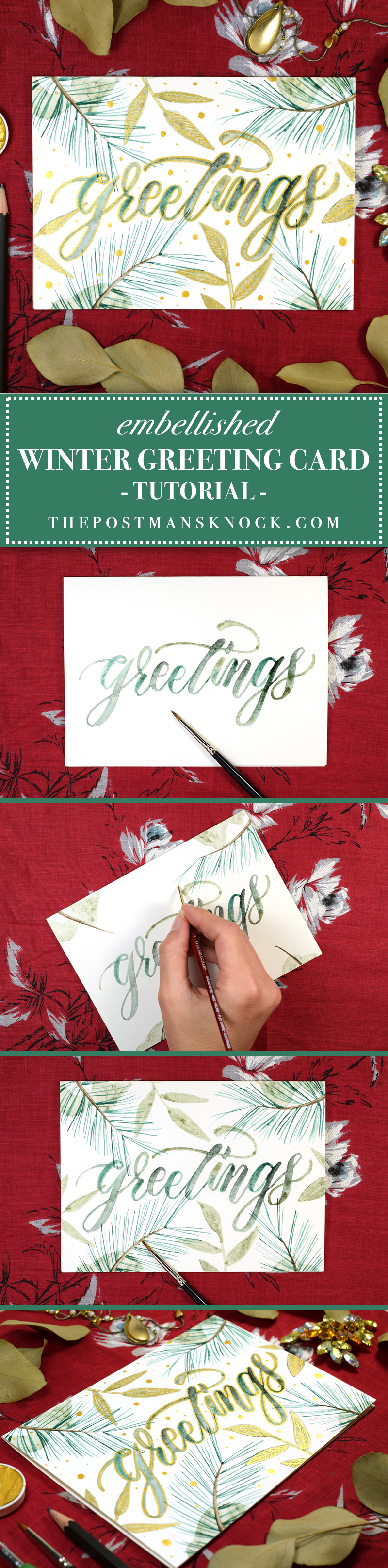 Winter greeting card tutorial the postmans knock embellished winter greeting card tutorial the postmans knock kristyandbryce Image collections