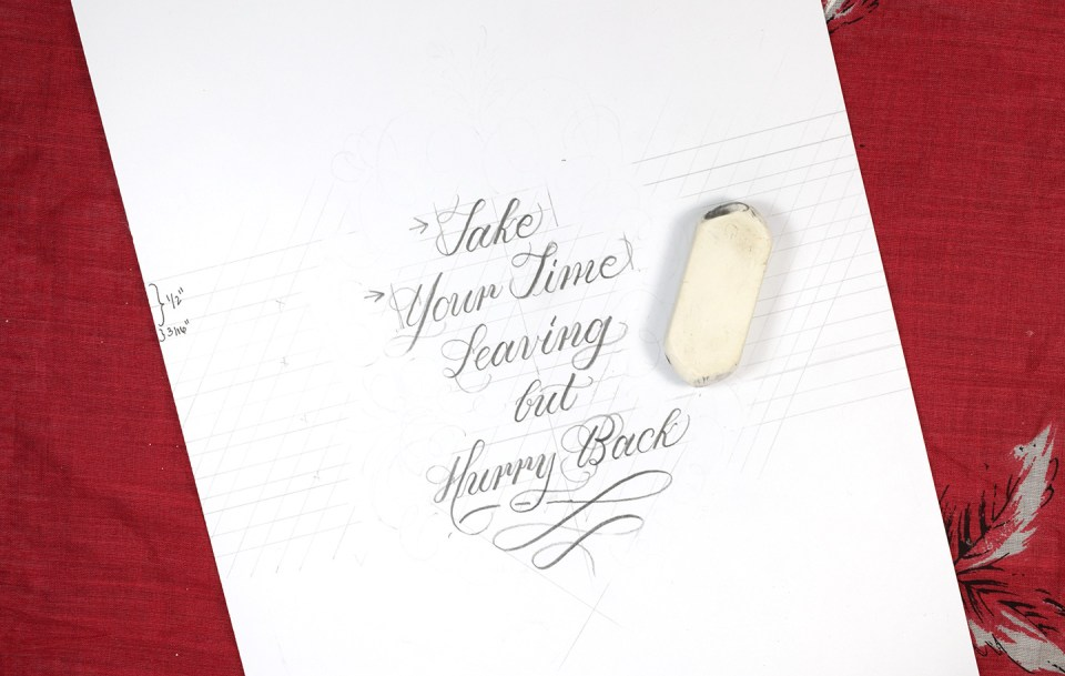 How to Make Calligraphy Quote Art | The Postman's Knock
