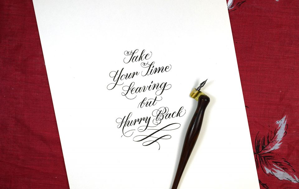 How To Make Calligraphy Quote Art The Postman's Knock Gorgeous Quotes Calligraphy