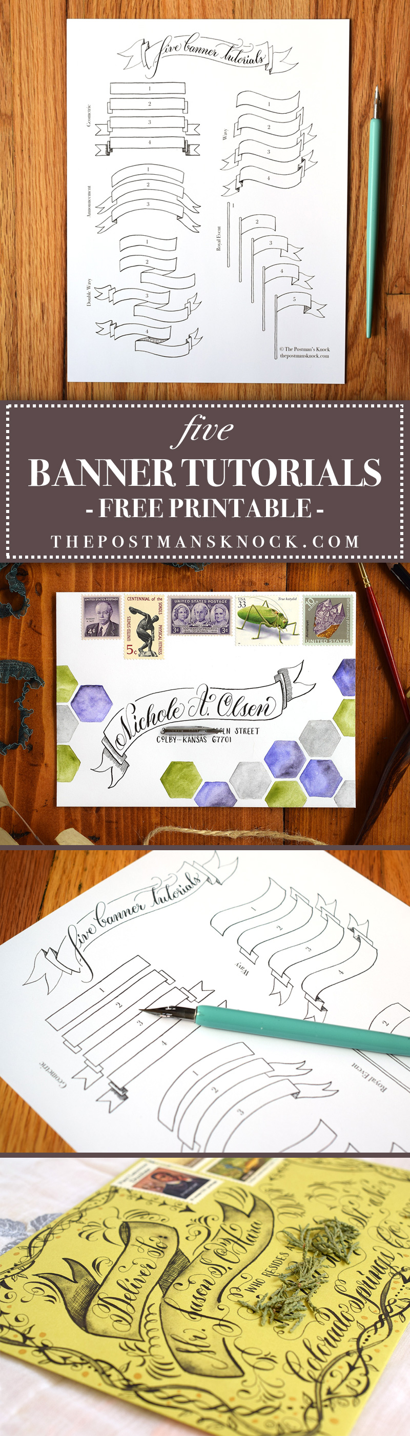 Five Banner Tutorials | The Postman's Knock