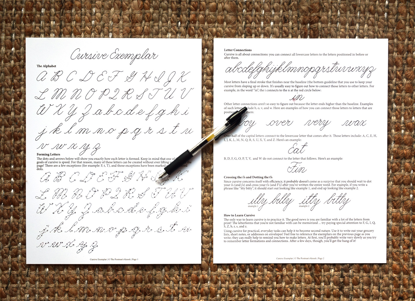 How To Write In Cursive A Free Exemplar
