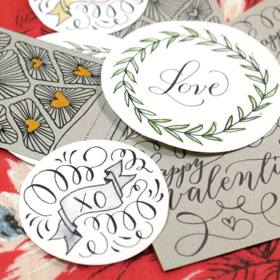 Hand Drawn Valentine's Day Gift Tags – Free Printable