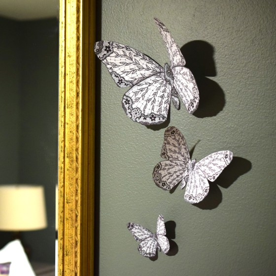 Large, Medium, and Small Butterflies as Wall Décor