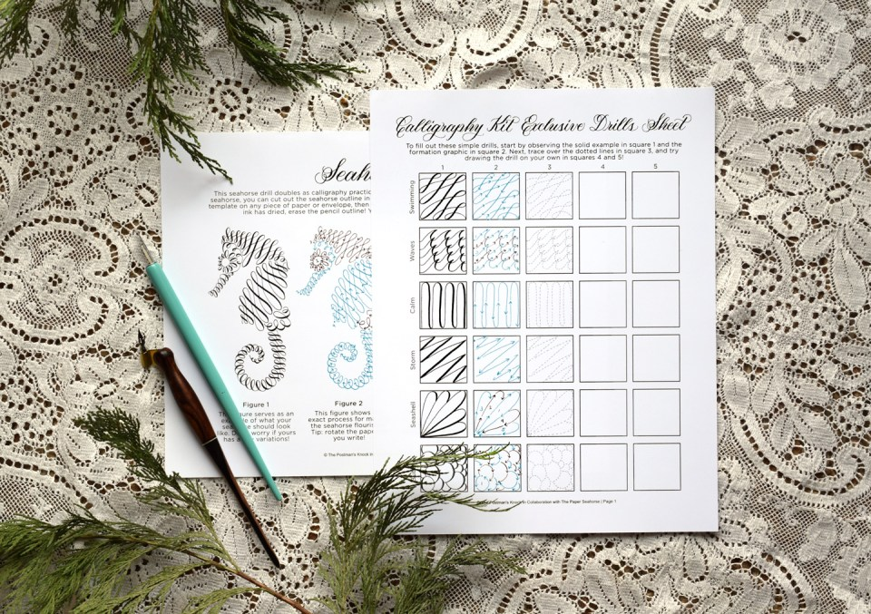Calligraphy Kit Collaboration with The Paper Seahorse | The Postman's Knock