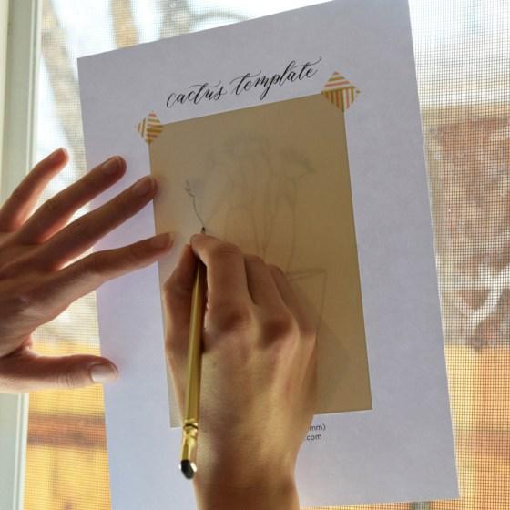 Printable Cactus Template | The Postman's Knock