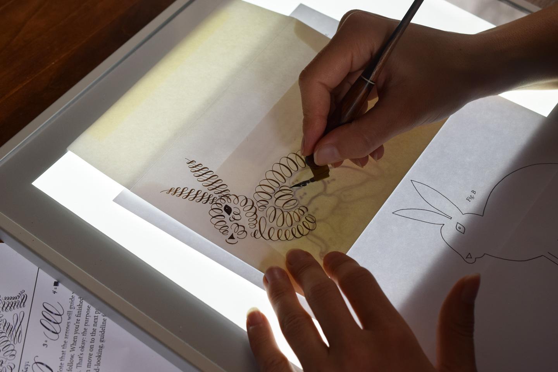 Brush pen calligraphy worksheet the postman s knock