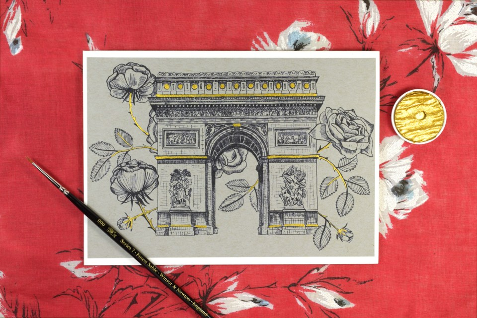 Let's Go to Paris Greeting Card Tutorial | The Postman's Knock