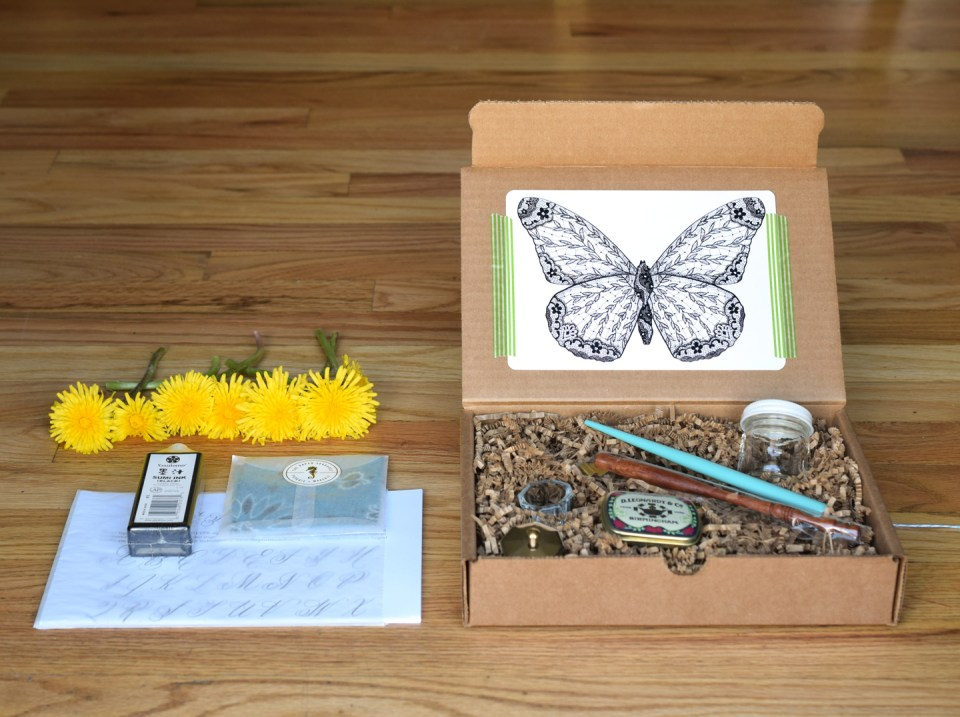 Ultimate Modern Calligraphy Starter Kit Giveaway | The Postman's Knock