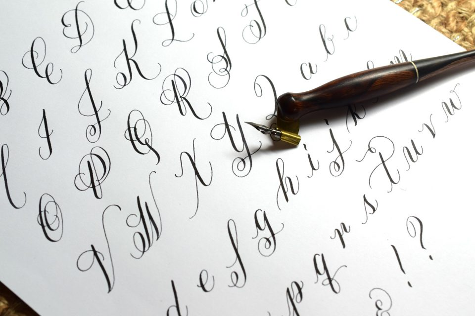 How to Make a Calligraphy Exemplar   The Postman's Knock