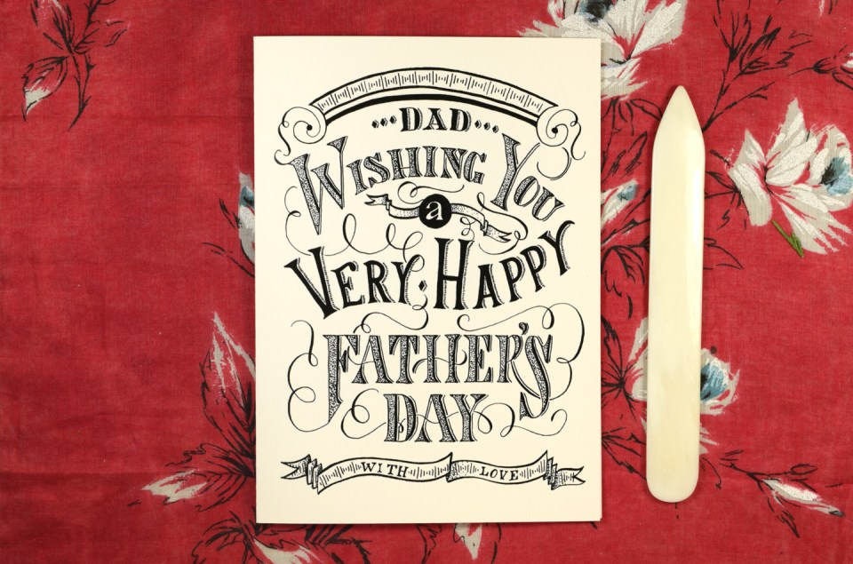 Vintage Typography Printable Father's Day Card | The Postman's Knock
