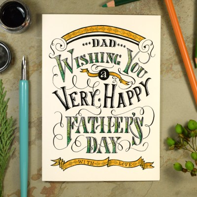 Vintage Typography Printable Father's Day Card