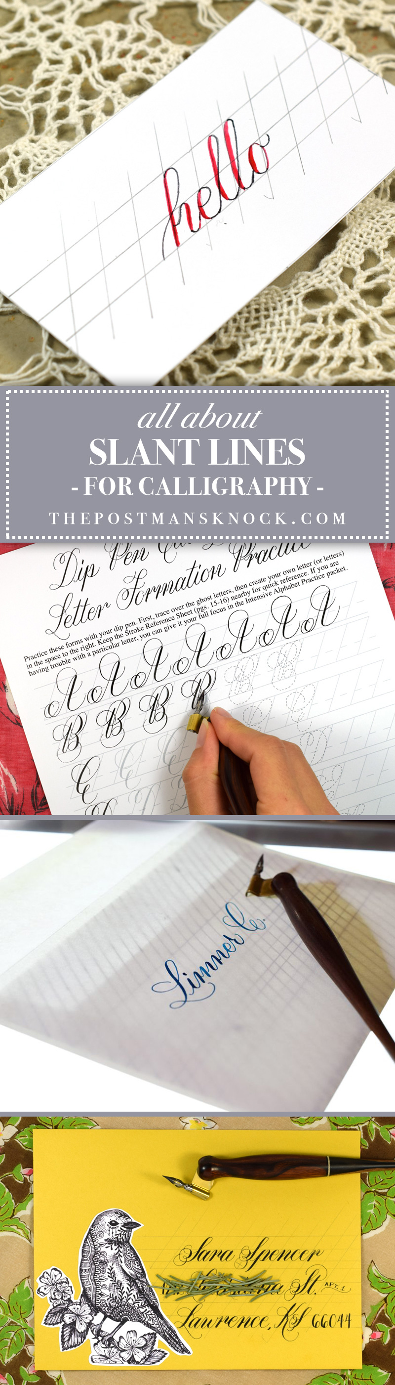 About Calligraphy Slant Lines | The Postman's Knock