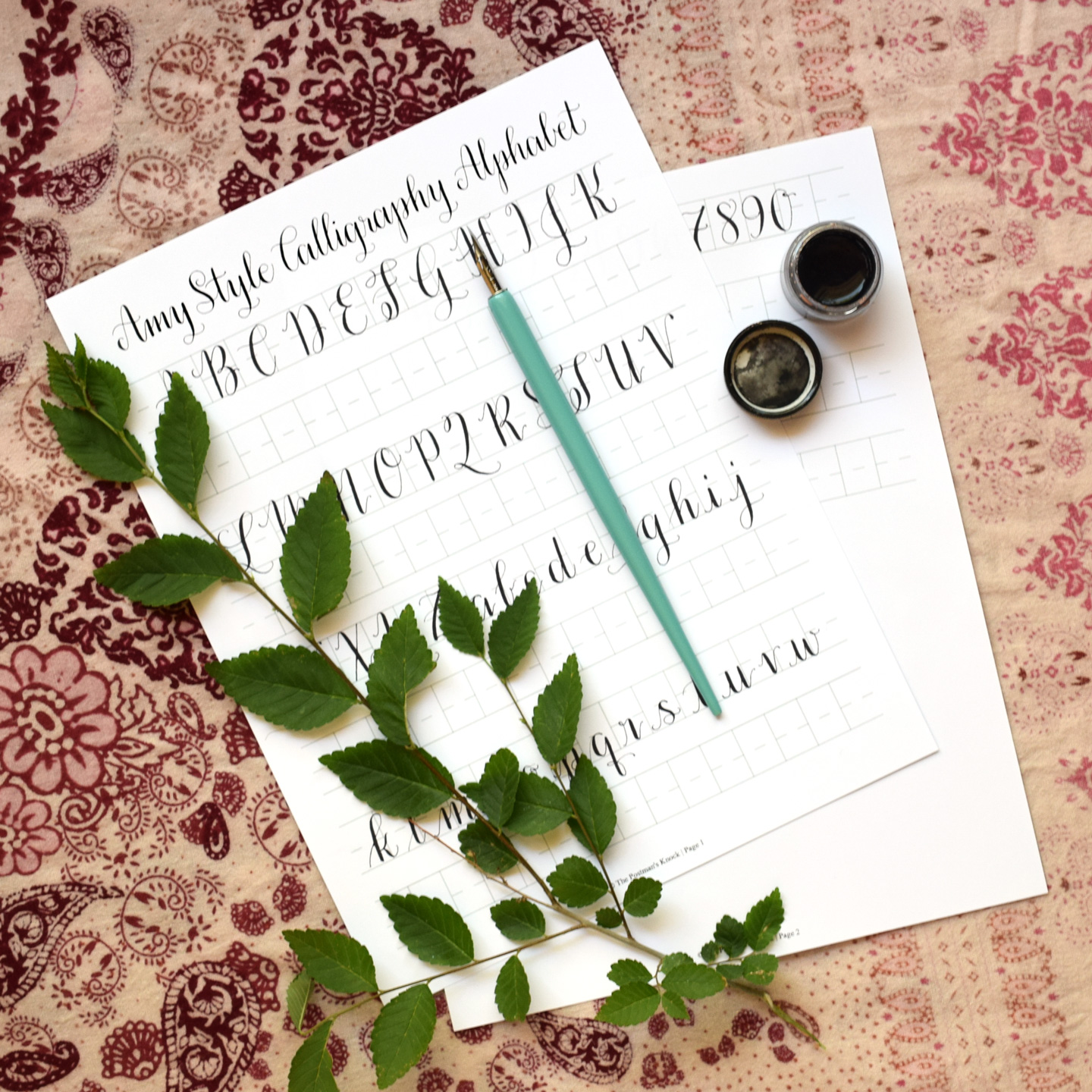 Free Basic Calligraphy Worksheet