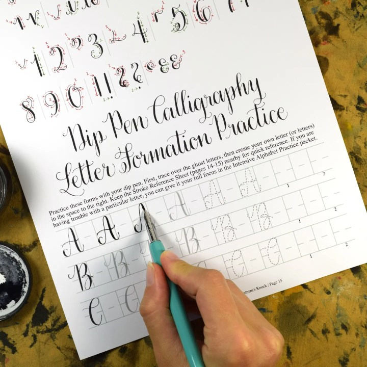 The worksheet set includes plenty of practice opportunities, both guided and unguided. For example, to learn these letters, you have five guided practice letters, then there are two you need to write on your own.