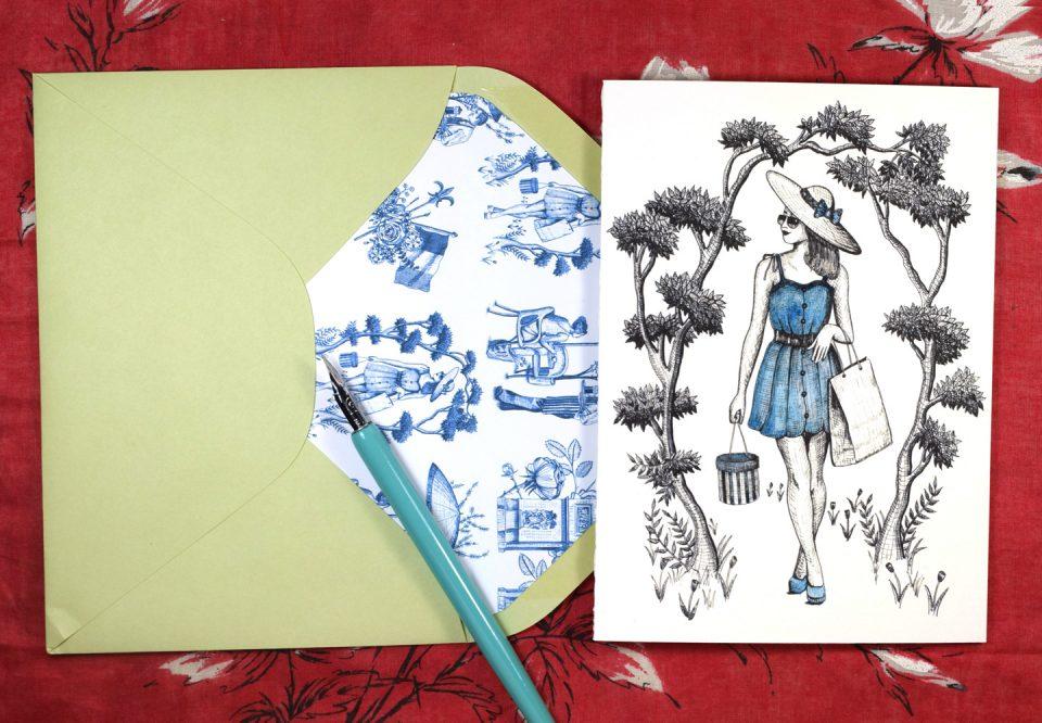 """Springtime in Paris"" Printable Stationery | The Postman's Knock"