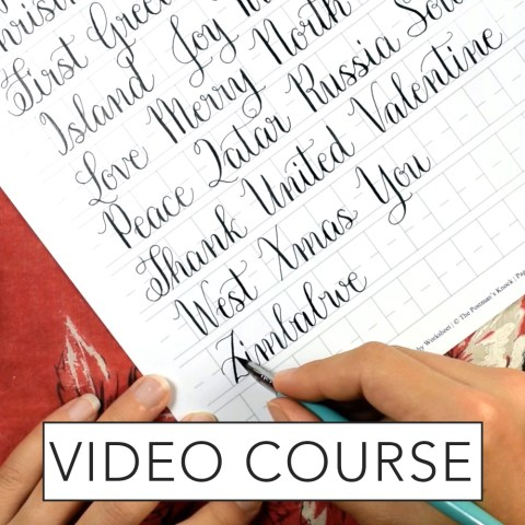 Amy Style Calligraphy Video Course