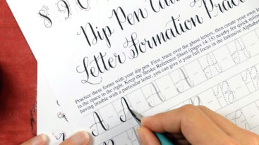 You must have a copy of the Amy Style Calligraphy Worksheet Set in order to take this course! A lot of your homework comes straight from the worksheet. The worksheet set is sold separately.