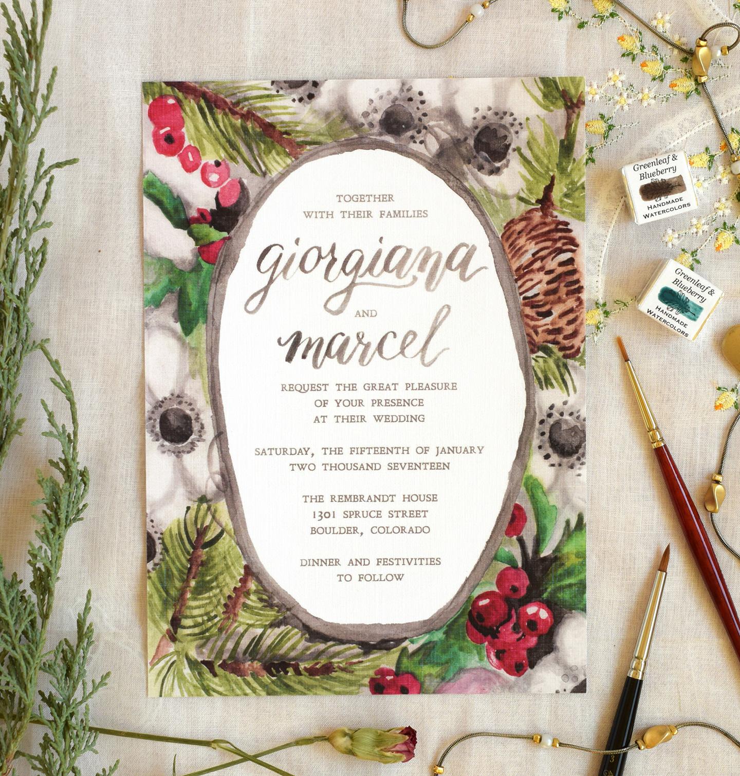 10 Artistic Wedding Invitation Ideas | The Postman's Knock