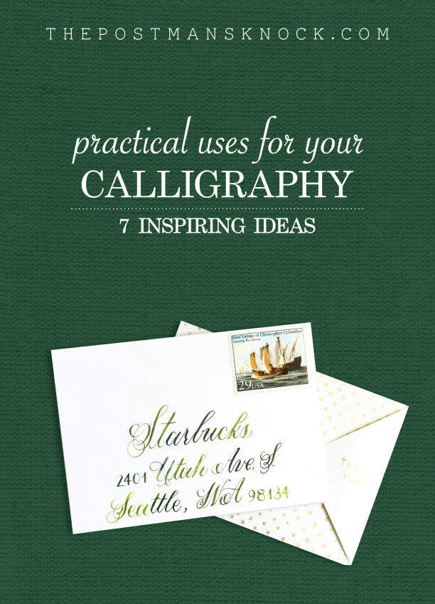 7 Practical Uses for Calligraphy   The Postman's Knock
