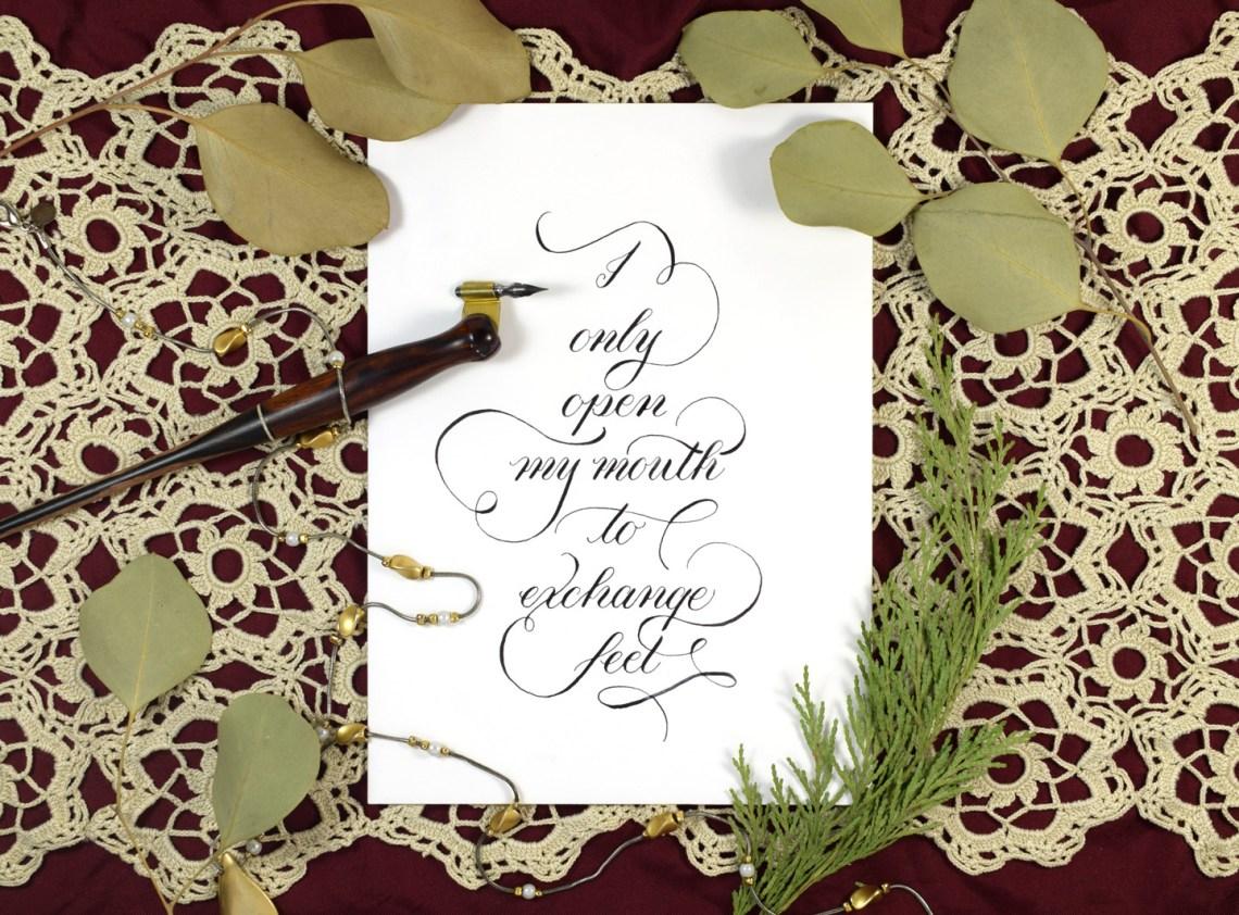 Simple Calligraphy Flourishing Tutorial   The Postman's Knock