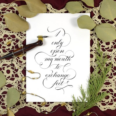 Simple Calligraphy Flourishing Tutorial