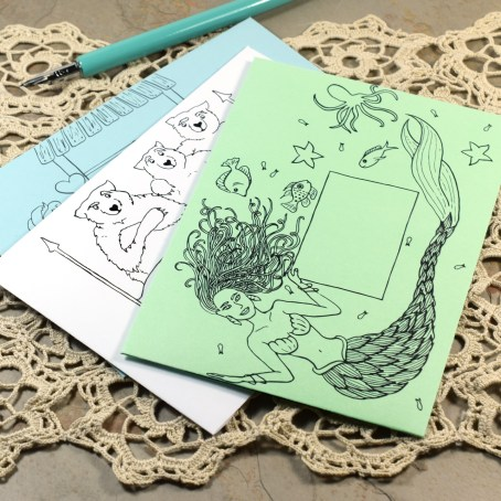 These three printable envelope templates will delight anyone who enjoys a good fairytale!