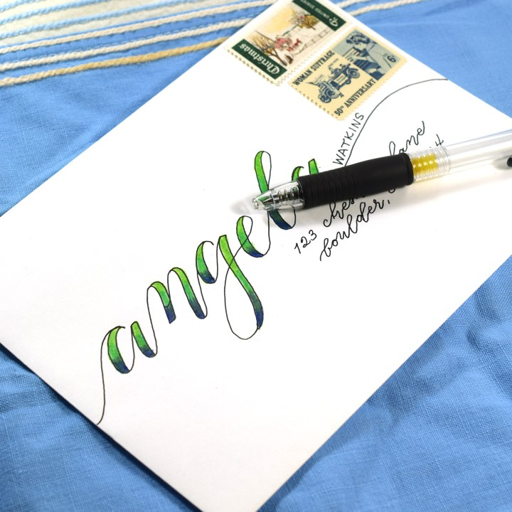 You'll learn how to create Kaitlin Style ombré faux calligraphy as one of the bonuses of this course!