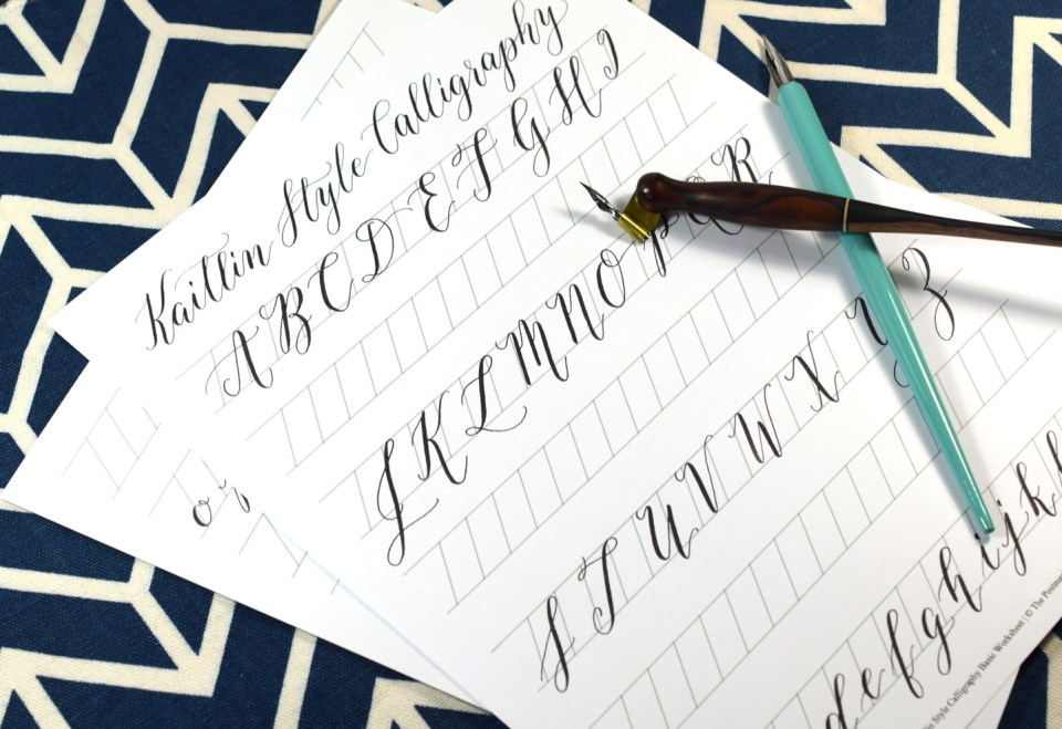 The 2018 Kaitlin Style Calligraphy Worksheet Update | The Postman's Knock