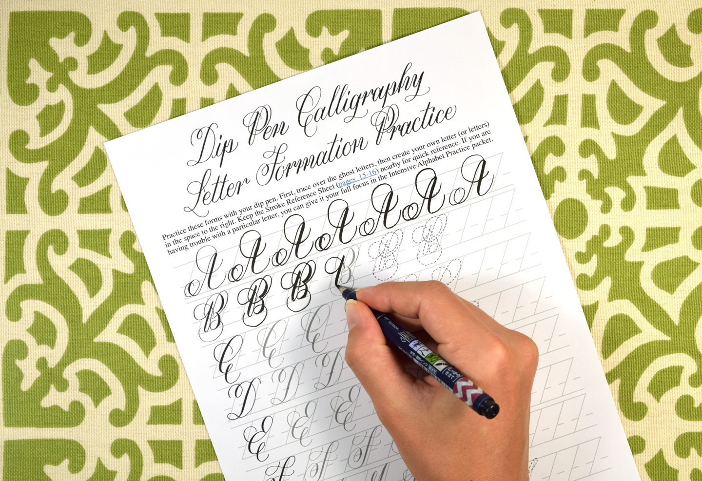 Using Brush Pens for Calligraphy + A Collection of Worksheets   The Postman's Knock