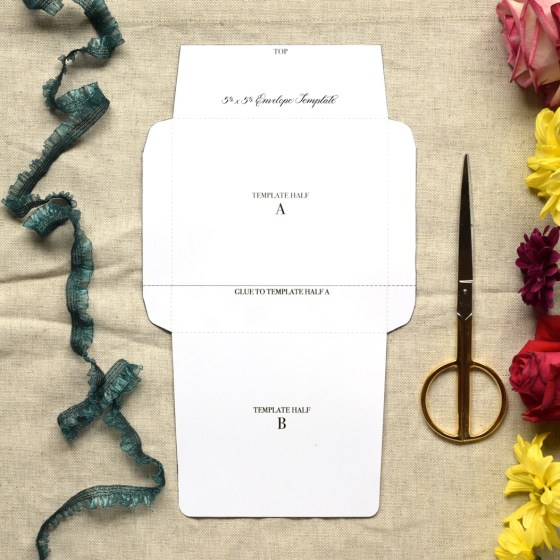 The Letter Writer's Complete Resource includes five different printable envelope templates. These templates will allow you to make DIY envelopes out of virtually any paper!