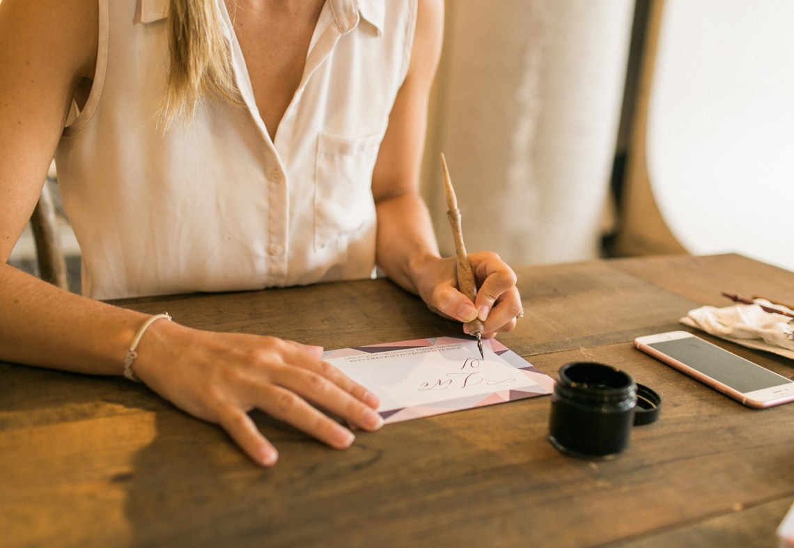 Lefty Calligrapher Elisabeth Young Writing