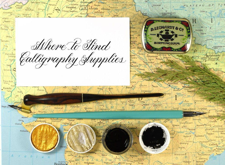 Where to Find Calligraphy Supplies (Almost) Anywhere in the World | The Postman's Knock