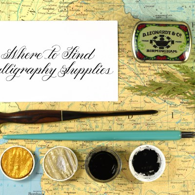 Where to Find Calligraphy Supplies (Almost) Anywhere in the World