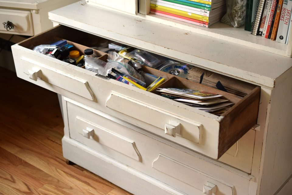 A Decluttering the Drawer Show and Tell | The Postman's Knock