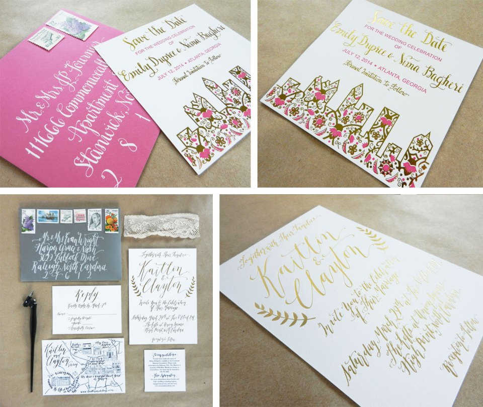 Letterpress Wedding Invitations from 2014 | The Postman's Knock