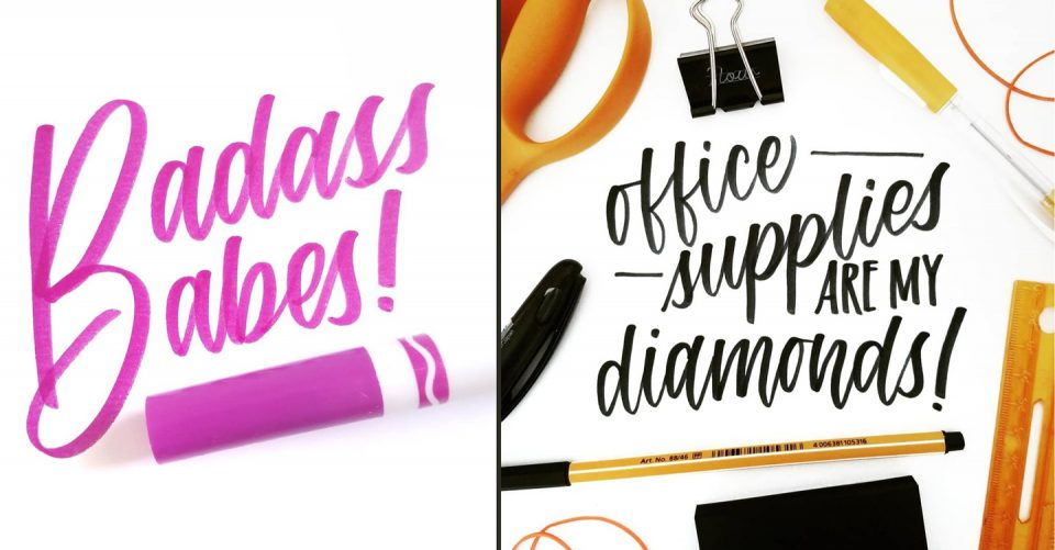 Brush Pen Lettering by Lefty Sarah Pearson