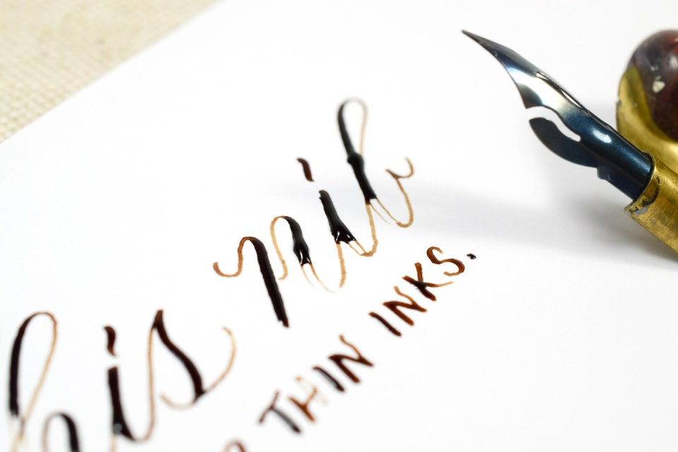 "Calligraphy Nib Spotlight: The Brause Steno (""Blue Pumpkin"") 