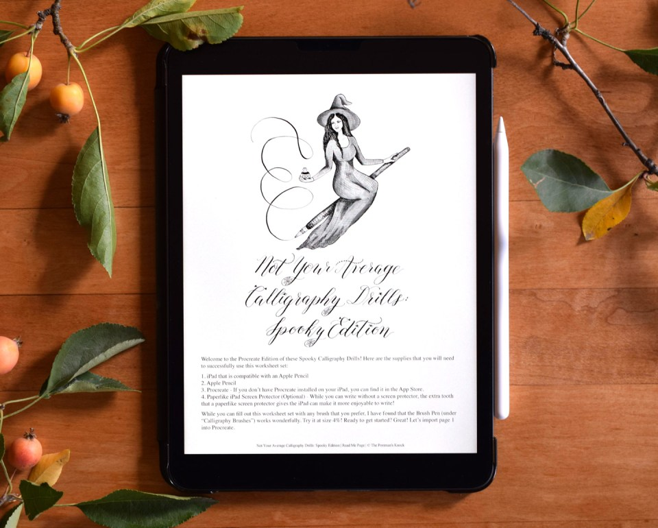 """""""Spooky"""" Procreate Calligraphy Drills 