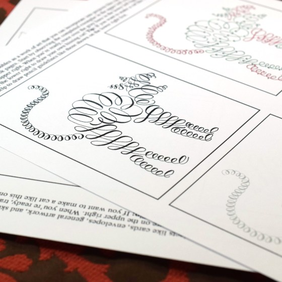 This flourished cat drill is also great for including on mail art!